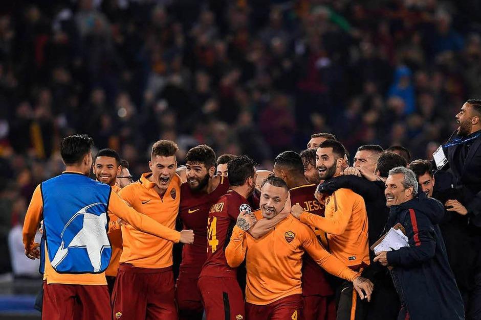 Die Sensation von Rom: Der FC Barcelona fliegt nach einer 0:3-Niederlage aus der Champions League. (Foto: AFP)