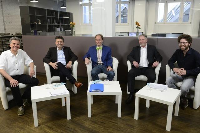BZ-Wahltalk: Schlagabtausch der OB-Kandidaten Behringer, Kröber und Wermter
