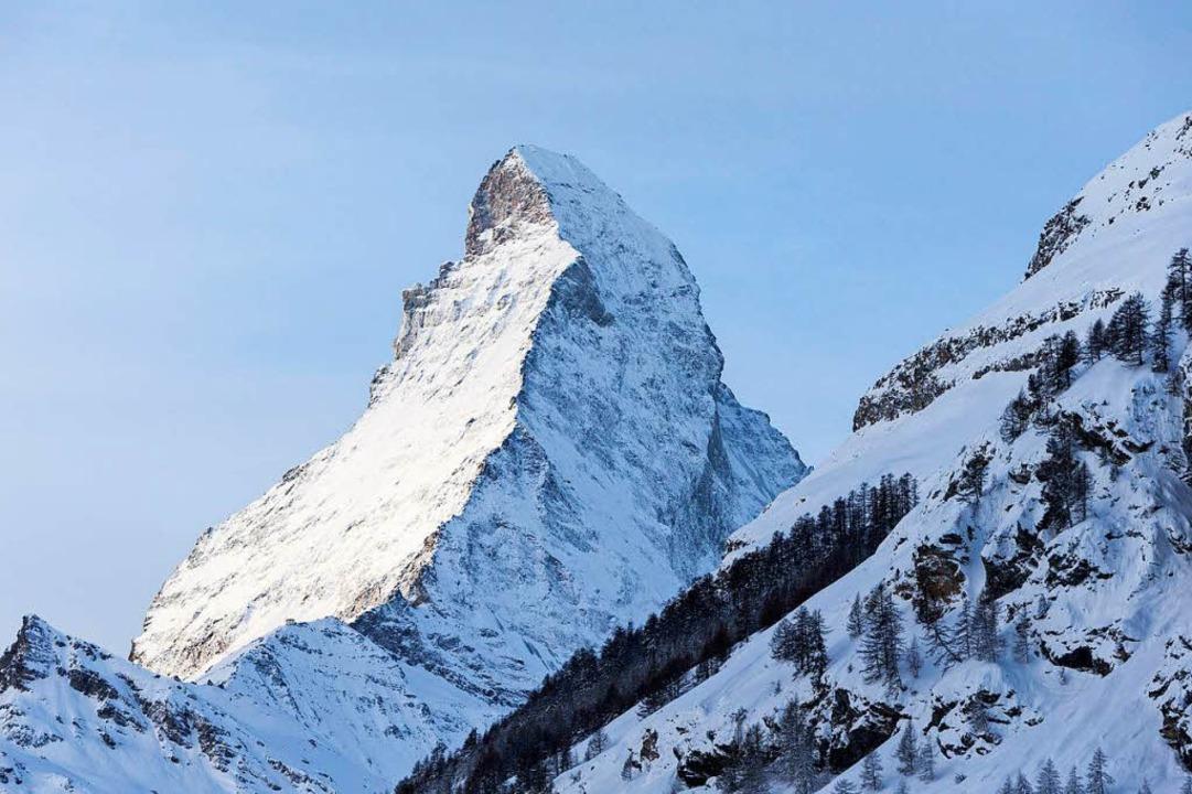 Am Matterhorn gibt es viele Gletscherspalten.  | Foto: dpa