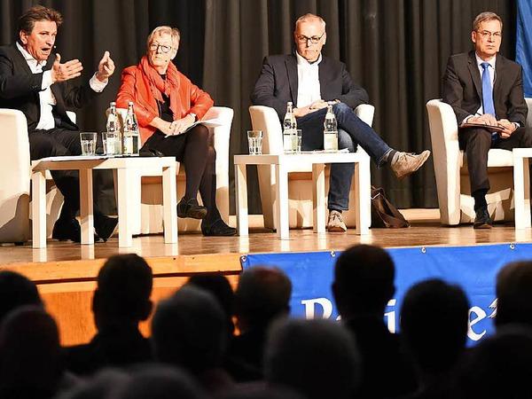 Manfred Lucha, Ursula Querfurth, Bernd Fey und Hanno Hurth (von links)