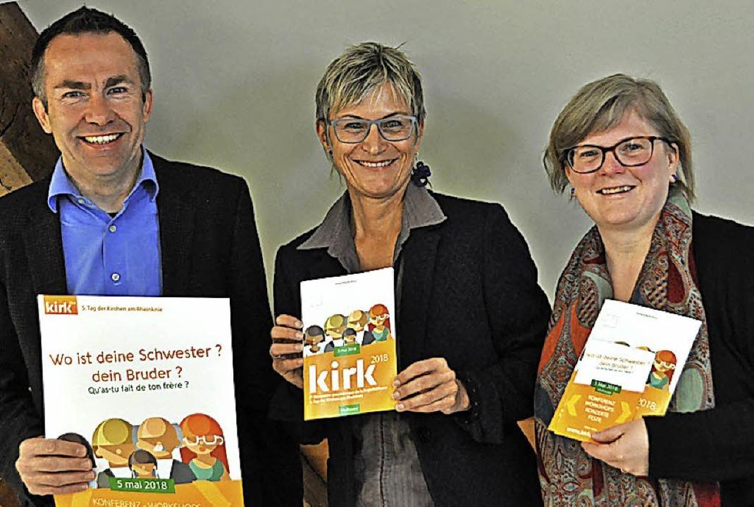 Gerd Möller, Bärbel Schäfer und Gudrun Mauvais (von links)   | Foto: Gramespacher