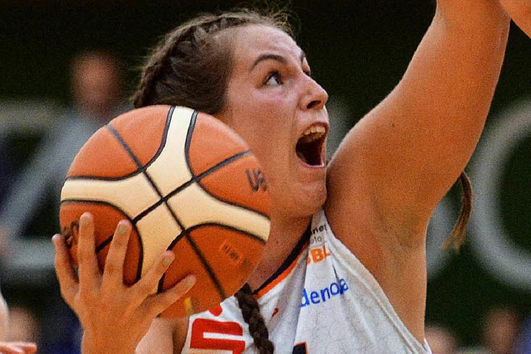 Auch die 20 Punkte von Kristen Gaffney...iederlage in München nicht verhindern.  | Foto: Patrick Seeger