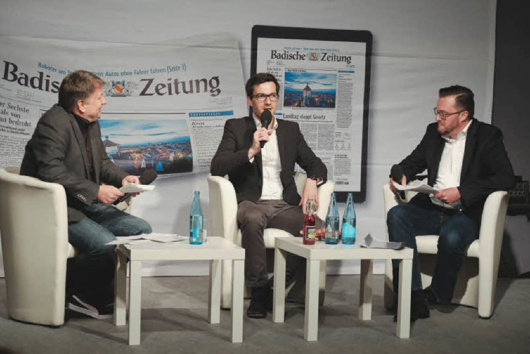 Die Debatte zwischen Martin Horn (rech... Rechts: BZ-Heimatchef Holger Knöferl.  | Foto: Miroslav Dakov