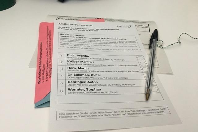 Wahlkampf-Endspurt in Freiburg: Es geht vor allem um die Personen