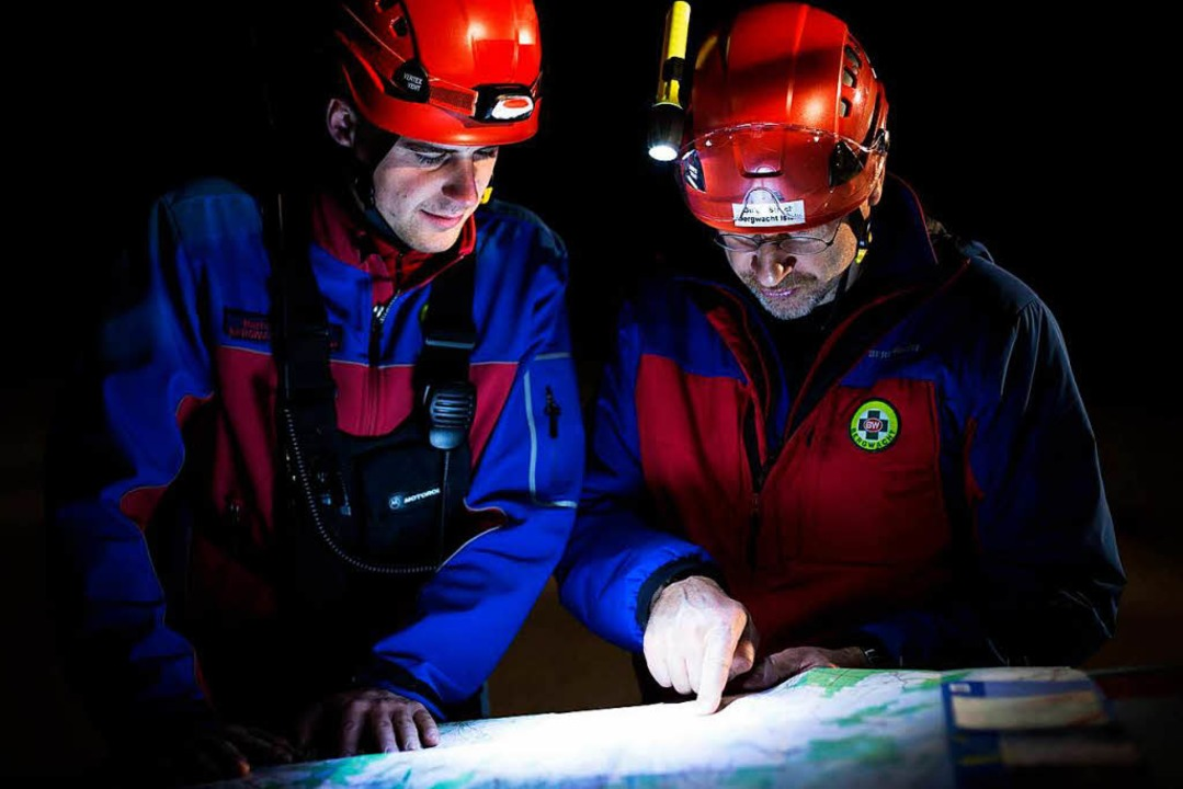 Schwieriger Einsatz im nächtlichen Steilgelände  | Foto: Bergwacht Schwarzwald