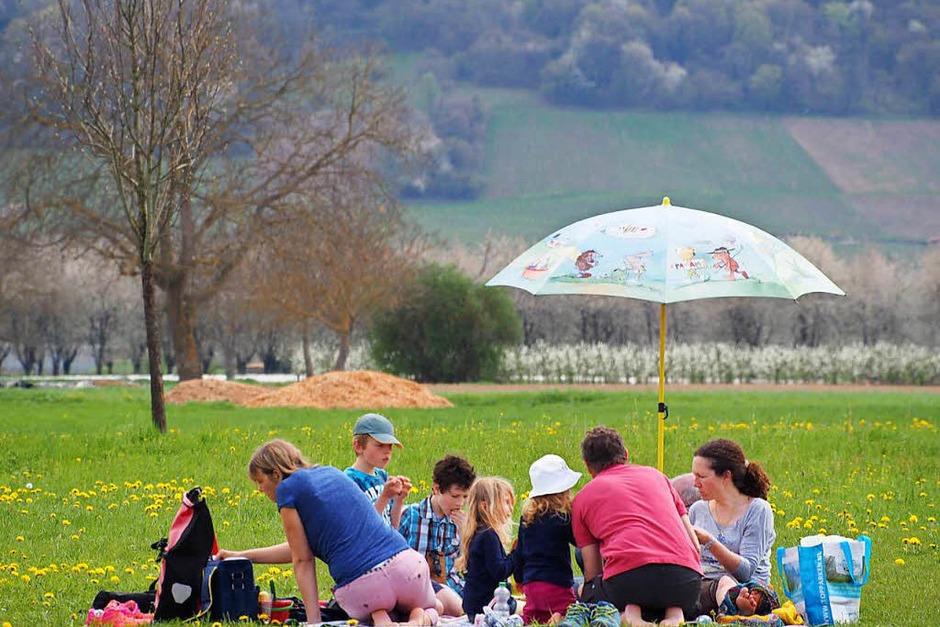 Picknick vor der Villa urbana. (Foto: Markus Donner)