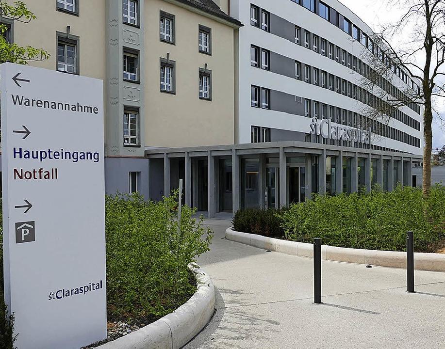 Der neue Eingang am Claraspital.   | Foto: Baas