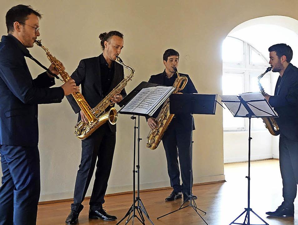 Joaquín Sáez Belmonte, José Manuel Bañ... und  Xavier Larsson Paez (von links)   | Foto: Roswitha Frey