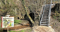 Stahltreppe ersetzt Holzsteg