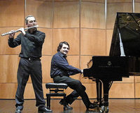 Gianluigi Durando (Flöte) und Luigi Stillo (Piano) in Emmendingen