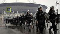 Russland übt für die Fußball-WM