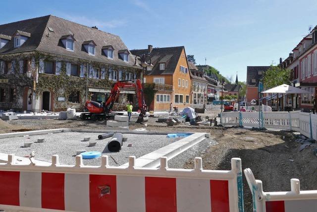 Lob und Kritik für das Baustellenmanagement in Breisachs Innenstadt