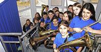 Jugend begrüßt musikalisch