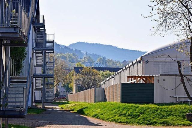 Blick in das erste Wohnhaus der Freiburger LEA