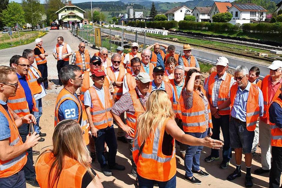 BZ-Leser waren auf der Großbaustelle der Höllentalbahn und besuchten Himmelreich. (Foto: Max Schuler)