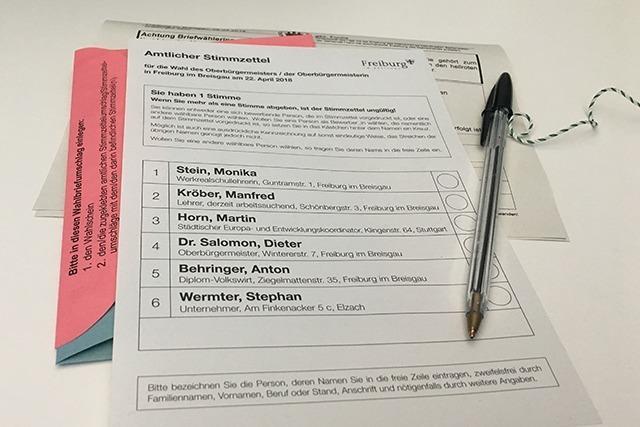 Ergebnis: So hat Freiburg im ersten Wahlgang gewählt