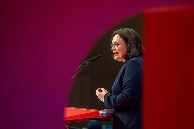 Südwest-SPD setzt Hoffnung auf neue Parteichefin Nahles