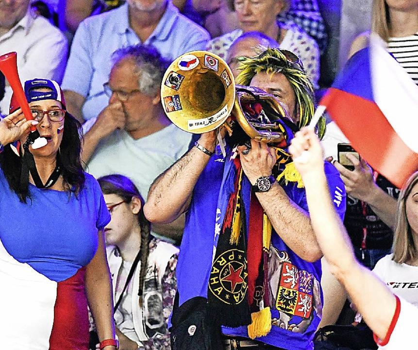 Lautstarke tschechische Fans    Foto: AFP