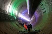 Absenkung über Bahntunnel bei Rastatt – Hohlraum wird mit Beton gefüllt