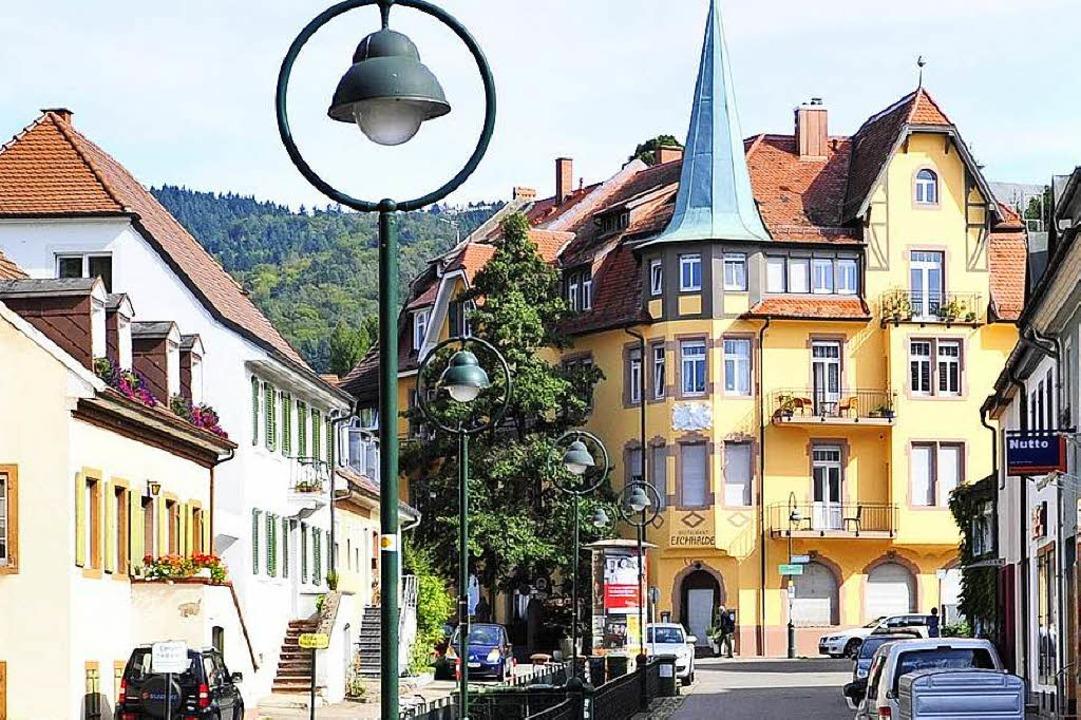 Blick in die Herdemer Hauptstraße und das Gasthaus Eichhalde.  | Foto: Ingo Schneider