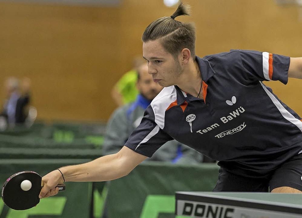 <BZ-FotoAnlauf>Tischtennis:</BZ-FotoAn... in Berlin seine erste Einzelmedaille.  | Foto: mast