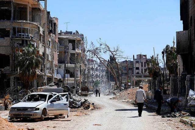 Pläne für den Wiederaufbau: Assad will Flüchtlinge enteignen
