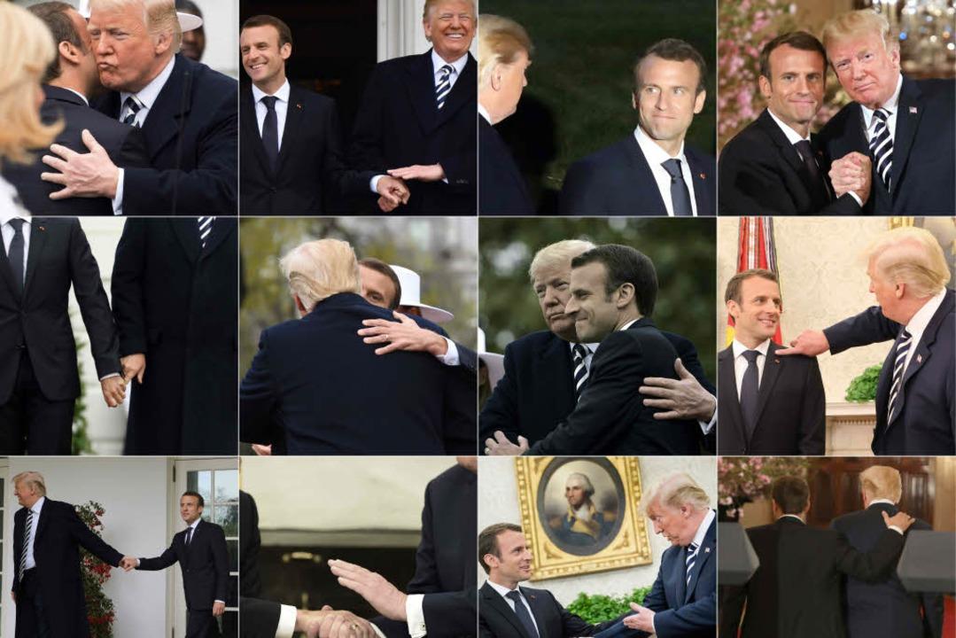 Die beiden Präsidenten lassen kaum voneinander ab.  | Foto: AFP