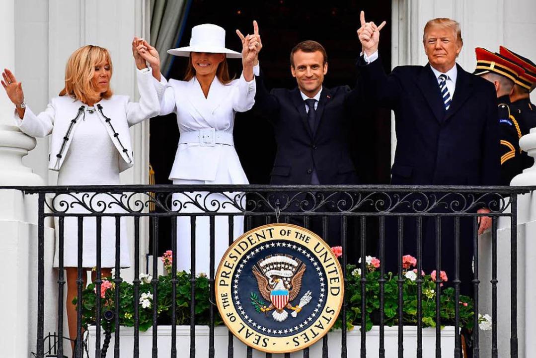 Die Trumps und die Macrons  | Foto: AFP