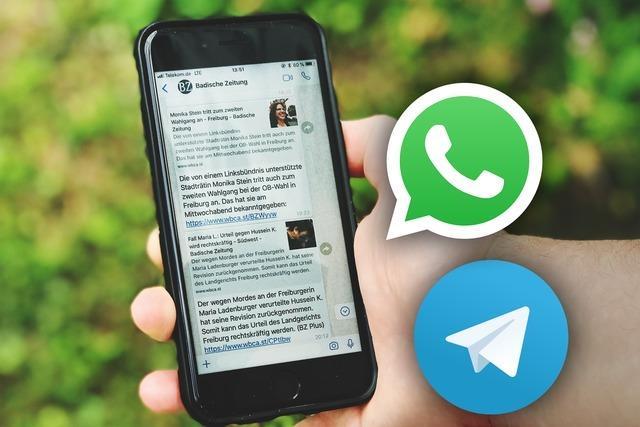 BZ verschickt jetzt Nachrichten per WhatsApp und Telegram