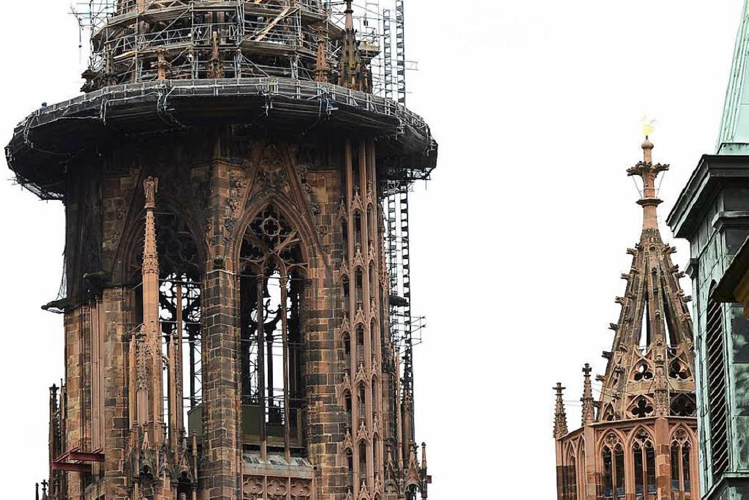 Die Zeiten des Turmgerüsts nähern sich dem Ende.  | Foto: Ingo Schneider