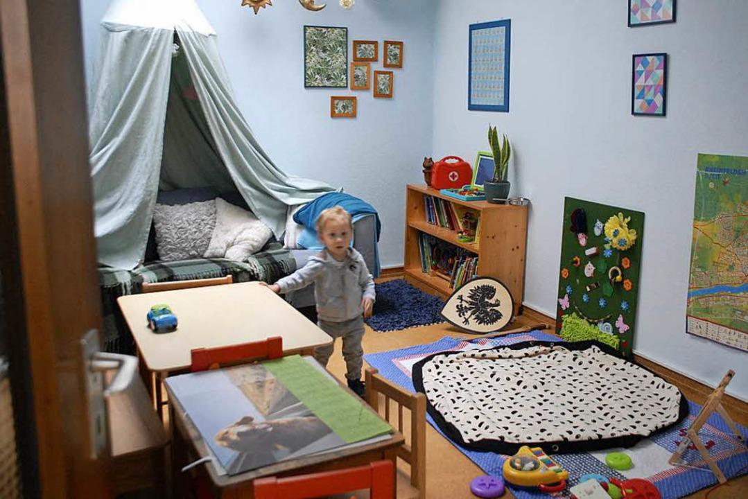 Kinder sind hier herzlich willkommen, ... Spielzimmer für die kleinen Besucher.  | Foto: Leony Stabla