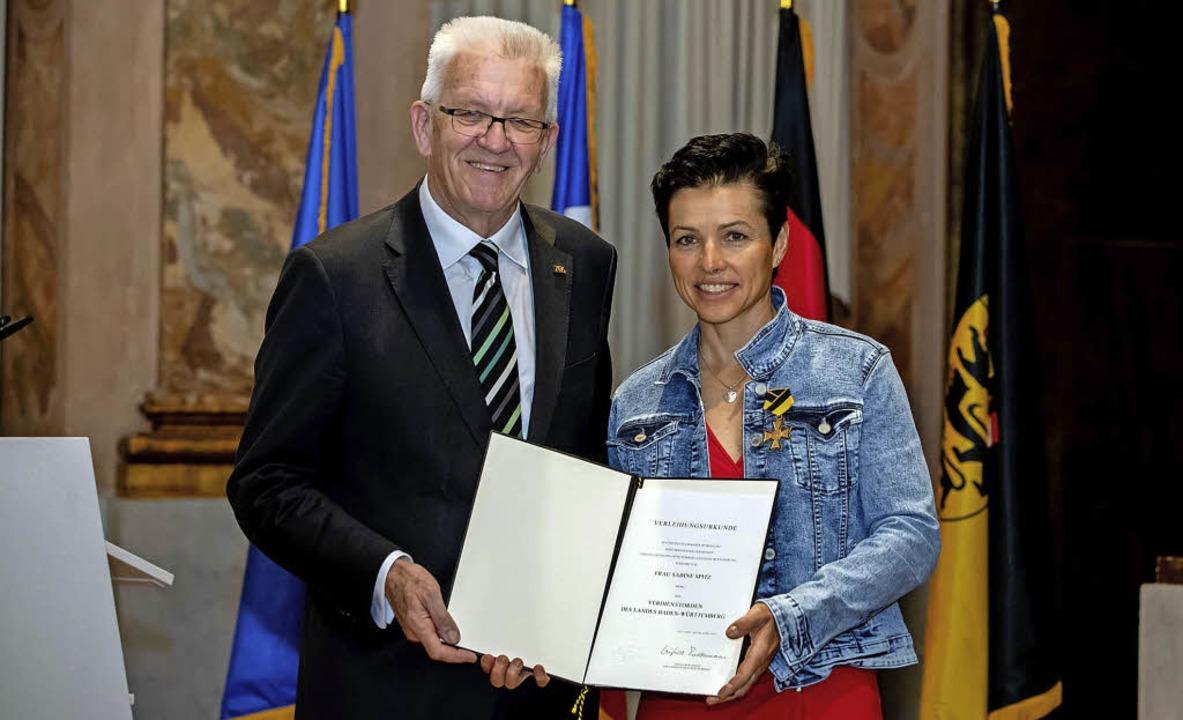 Ministerpräsident Winfried Kretschmann...storden des Landes Baden-Württemberg.   | Foto: Staatsministerium Baden-Württemberg
