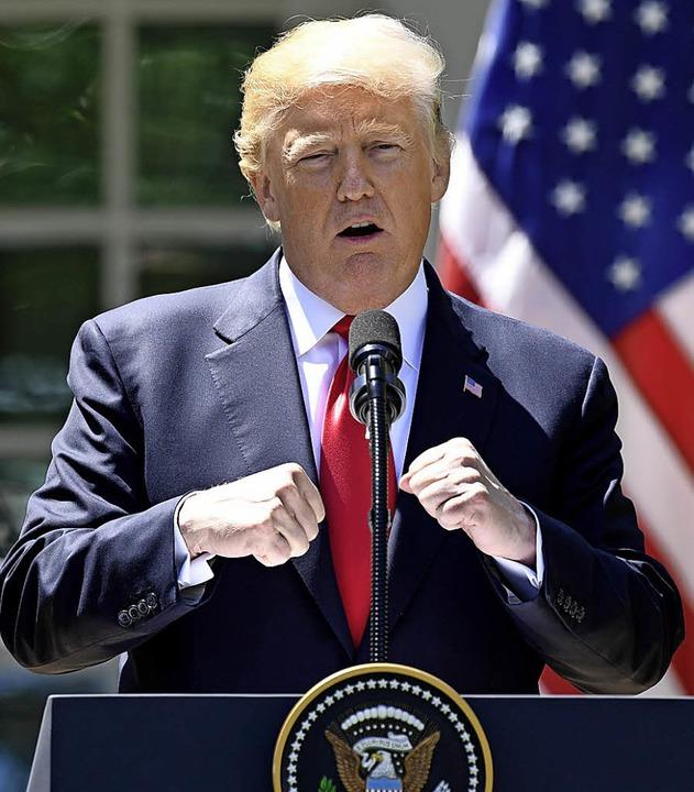 Mischt sich gern ein: Donald Trump     Foto: AFP