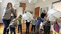 Kunst begeistert Kindergartenkinder