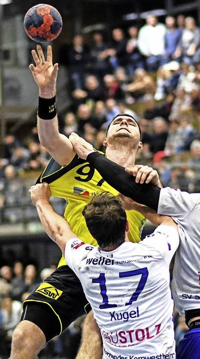 Der Mann mit der Nummer 97 wird die SG...heim – wohl in die erste Liga.    | Foto: Seeger