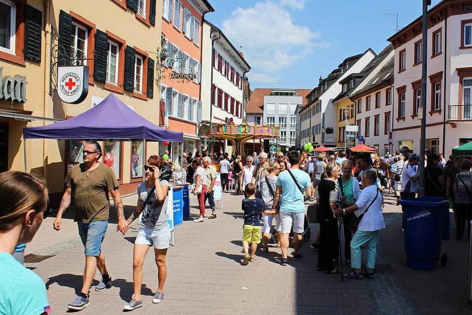 Ordentlich Druggete herrschte in der Schopfheimer Innenstadt, in der am Frühlingsmarkt jede Menge Action geboten war. (Foto: Anja Bertsch)