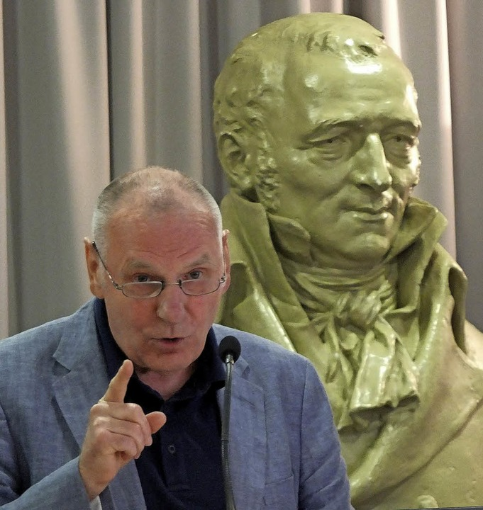 Franz Littmann hielt den Festvortrag.     Foto: Martina David-Wenk