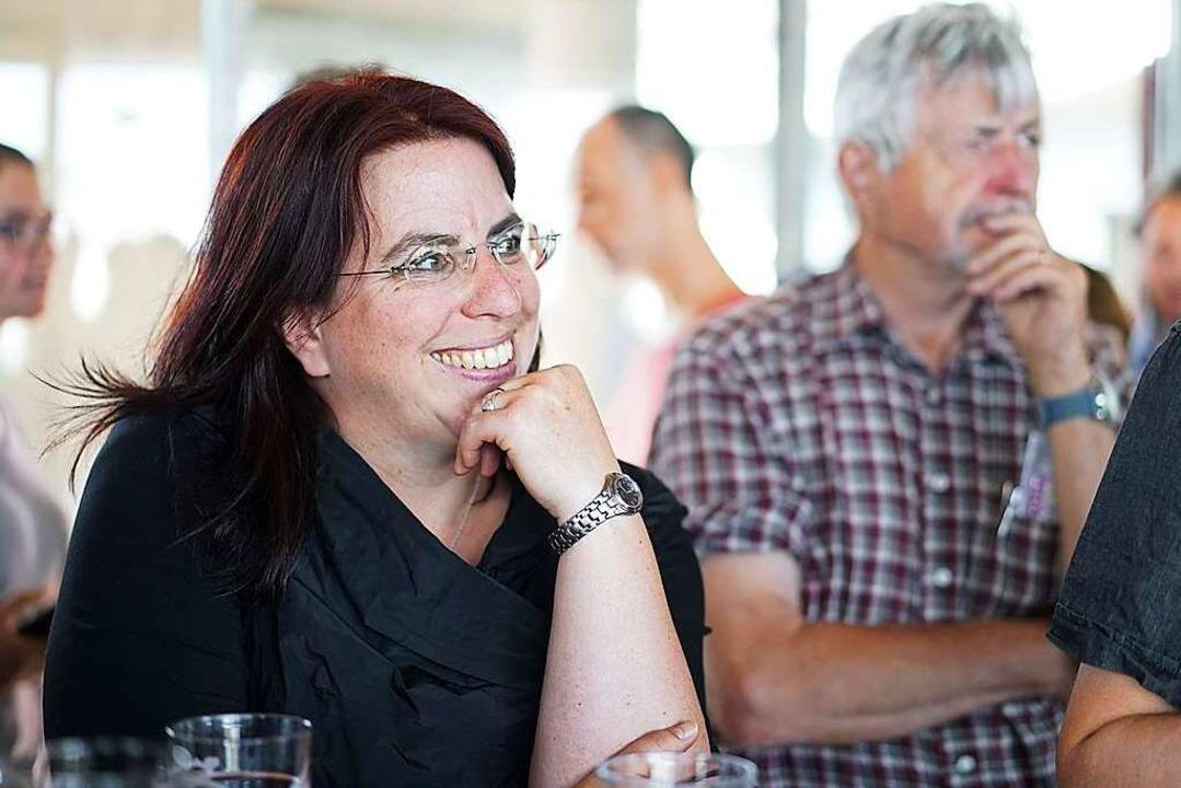 Monika Stein freut sich über ihr Ergebnis.  | Foto: Fabio Smitka