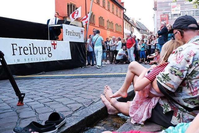 Fotos: So war der Wahlabend auf dem Rathausplatz in Freiburg