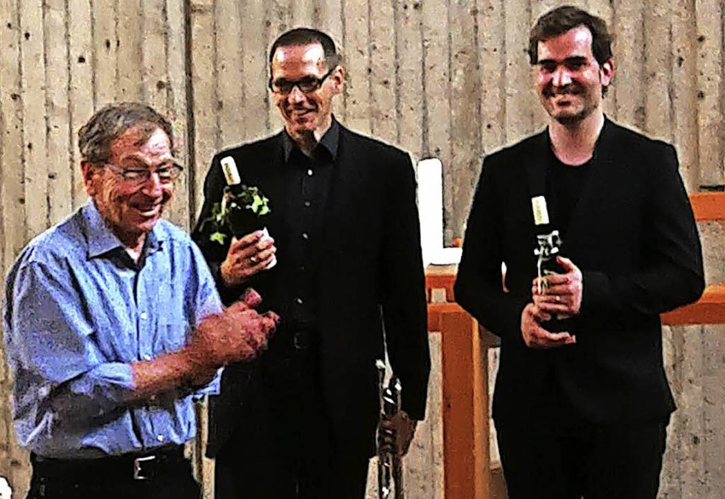 Ekkehard Braun vom Freundeskreis Kirch... Glogau und Kirsten Galm (von links).   | Foto: Heidi Winkel-Hook