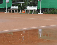 Tennis-Derby fällt ins Wasser
