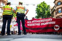 Proteste gegen Kundgebung gegen Moschee in Stuttgart