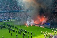 Spiel von Absteiger Hamburger SV kurz vor Ende unterbrochen