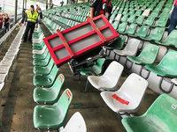 Schwere TV-Ausrüstung stürzt nach SC-Spiel vom Dach auf die Tribüne