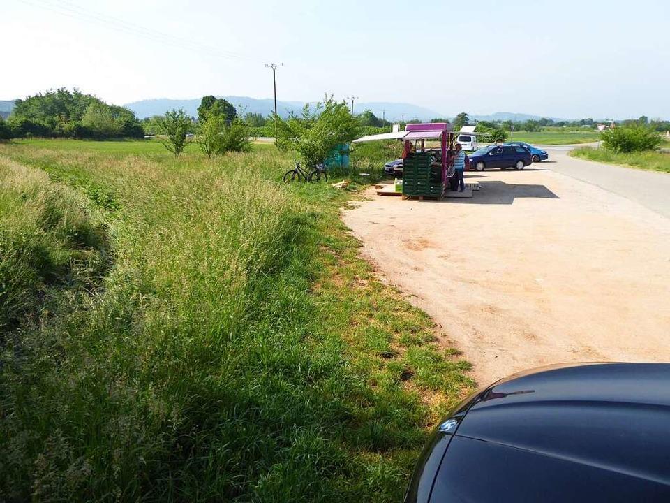 Der Tatort nahe dem Kreisel zwischen Offenburg und Ortenberg