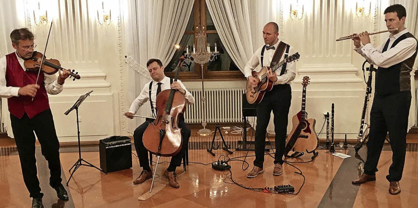 "Das Quartett ""Passo avanti"" im Festsaal des Kollegs    Foto: Michael Neymeyer"