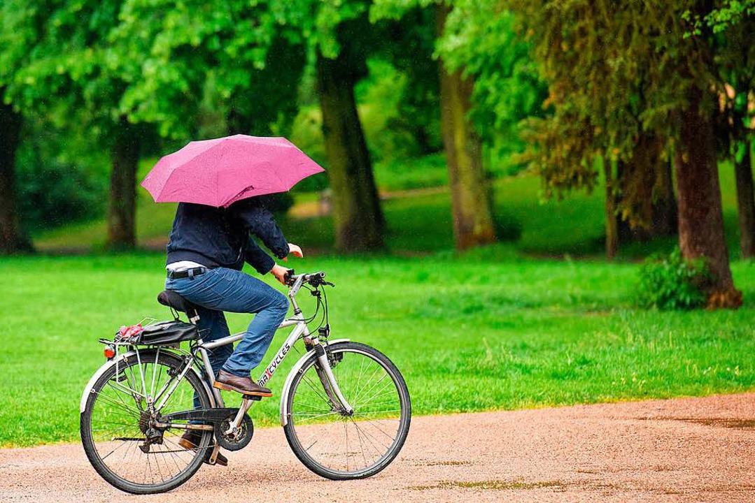 Regenschirme  bleiben gefragt.  | Foto: dpa