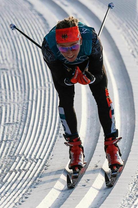 Steffi Böhler bleibt in der Spur.  | Foto: AFP