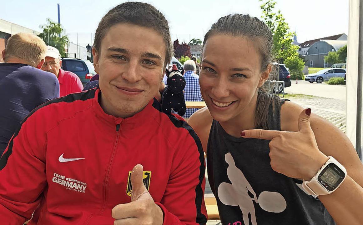 <BZ-FotoAnlauf>Gewichtheben:</BZ-FotoAnlauf> Moritz Huber und Beata Jung   | Foto: Privat