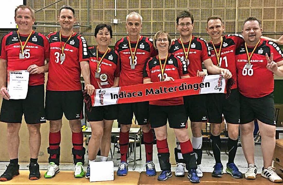 Das Malterdinger Mixed-Team der AK 45p...Grau, Waldemar Schott, Jochen Köcher.   | Foto: privat